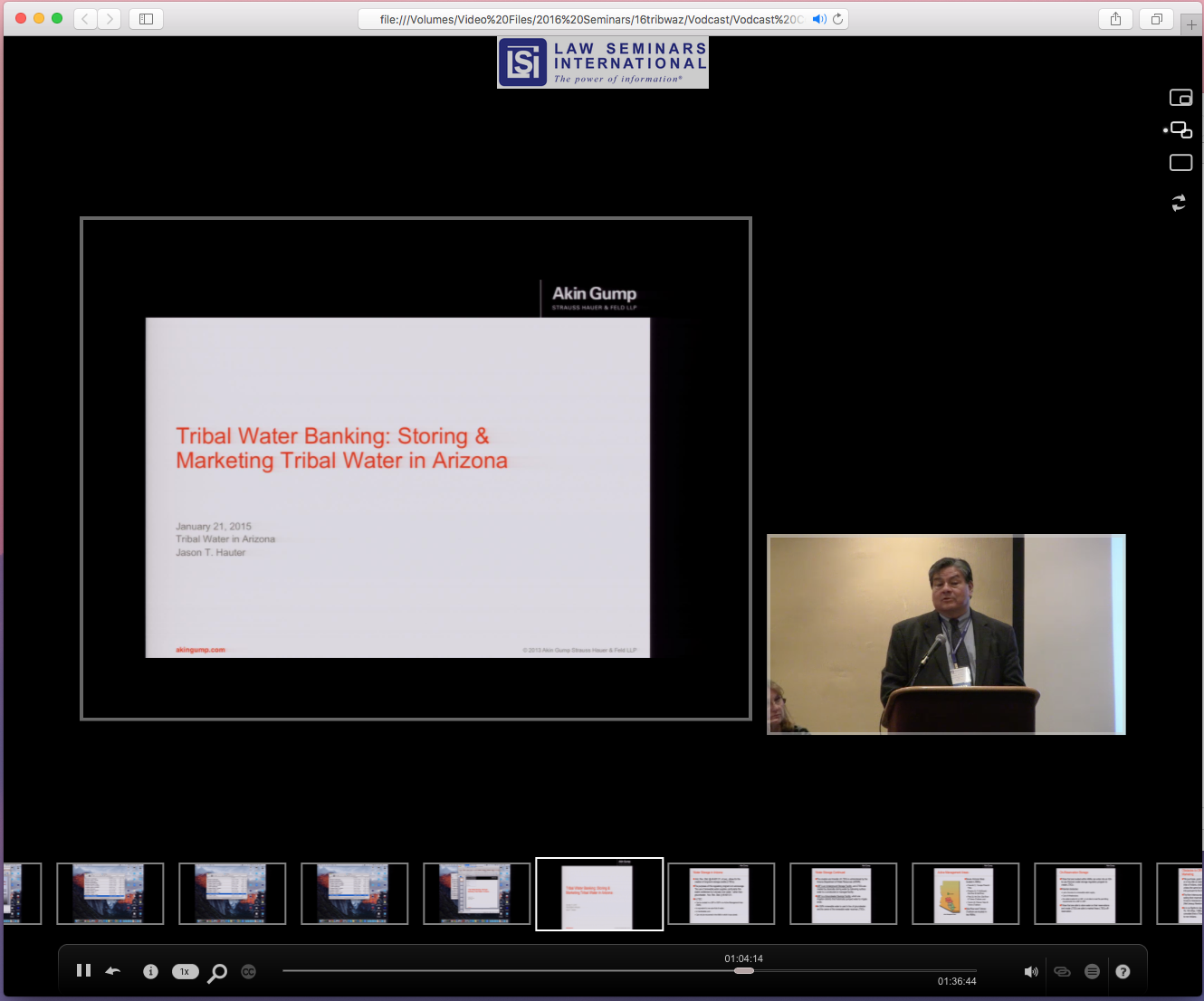 Webcast Screenshot